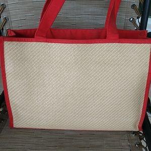 Vintage Yves Saint Laurent Woven Cane Shopper Bag